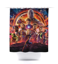 Avengers Infinity War Bath Room Shower Curtain Set - $26.99+