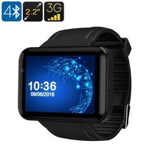 The dm98 smart watch phone black thumb200