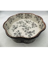 "Temp-Tations - Floral Lace Black - 8"" diameter octagonal scalloped baker... - $13.86"
