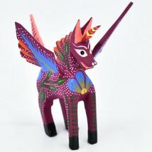 Handmade Alebrijes Oaxacan Wood Carving Painted Folk Art Unipeg Unicorn Pegasus