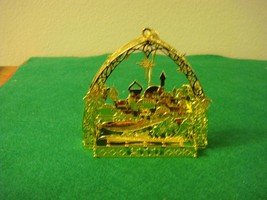 Danbury Mint Gold-Plated 2000 Filigree Bethlehem Ornament - $19.99