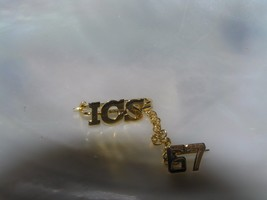 Vintage Dainty 12K Gold-filled ICS High School 1967 Sweater or Lapel Pin  - $13.99