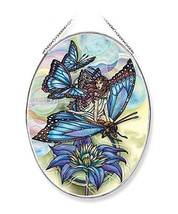 Amia Wishes Have Wings Butterfly Glass Suncatcher, Multicolor