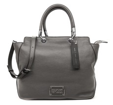 Marc by Marc Jacobs Satchel Bentley Shoulder Bag Leather Tote Grey NWT - $289.00