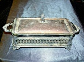 Sterling Silver Server  with Fire King Glass Ware AA-191818  Antique image 8
