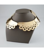 Louis Vuitton Peter Pan Hide & Seek Gold-Plated Collar Necklace Retail $1700 - $1,188.00