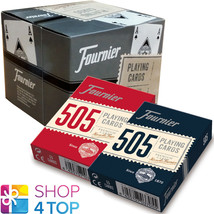 12 DECKS FOURNIER 505 PLASTIC COATED POKER PLAYING CARDS 6 RED 6 BLUE BO... - $46.23