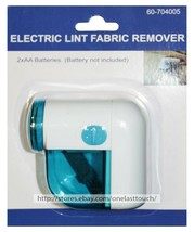 MB* ELECTRIC LINT FABRIC REMOVER White+Teal USES AA BATTERIES Travel Siz... - $3.19