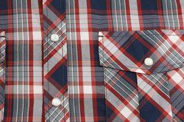 Men's Casual Short Sleeve Western Button Down Plaid Pearl Snap Cowboy Shirt image 3