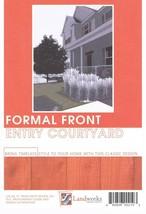 Landscape Plans Formal Front Entry Courtyard Paver Layout Landworks Desi... - $8.25