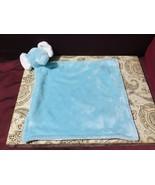 Carter's Teal Aqua White Baby Elephant Security Blanket NWOT - $44.55