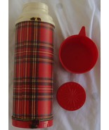 Vintage Universal Plaid 10 oz Thermos Landers Frary & Clark New Britain ... - $11.83