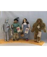 4 WIZARD OZ DOLL Dorothy Toto Tin Man Scarecrow Cowardly Lion Yellow Bri... - $60.78