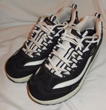 Skechers Shape-Ups Black And White Leather Walking Toning Shoes Women's 9 - £17.37 GBP