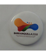 Barranquilla  2018  Pin Back Lapel Colombia XX111 CASCO Olympic Association - $6.64
