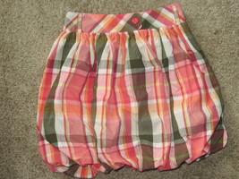 EUC Gymboree Unicorn Garden Friendship Camp Plaid Bubble Skirt Size 9 - $2.99