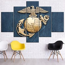 Marine Corps Pictures Poster Prints on Canvas United States Navy Blue Pa... - $96.69