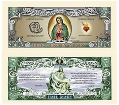 Virgin Mary Mother of God Collectible Bill In Protective Holder - $3.28