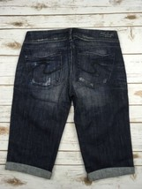 Silver J EAN S Shorts Low Rise Dark Trinity Cuffed Denim Stretch Jean Shorts 28 - $17.85