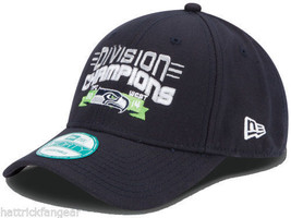 Seattle Seahawks New Era 9Forty 2014 NFC W.Division Champs Football Cap Hat - $368,08 MXN