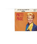 45 RPM Record -- Patti Page, A CITY GIRL STOLE MY COUNTRY BOY  / DONDI (... - $8.50