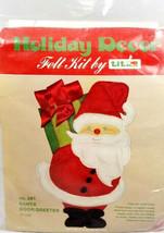 Holiday Decor Felt Kit by Titan 1977 Christmas Santa Door Greeter  - $18.31