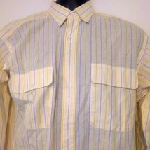 Polo Ralph Lauren Mens Classic Fit Shirt Button Up Size Small yellow - $17.97