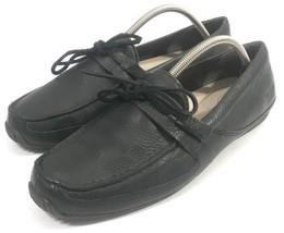 UGG Australia Black Leather Loafers Slip On Shoes Men Adult Size US 10.5... - $691,96 MXN