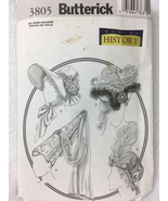 Butterick 3805  4 Historical Period Hats Sewing Pattern Sz S,M, L - $14.00