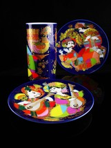 COLORFUL Rosenthal set - pop art vase - signed plate - Bjorn Wiiblad mandolinens - $455.00