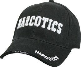 Black Deluxe Narcotics Low Profile Baseball Cap Hat - $10.99