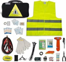 Secureguard Roadside Emergency Kit Supplies - New Version Includes Safet... - $65.24