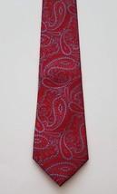 Zylos George Machada 100% Silk Red Blue Paisley Print Men's Neck Tie - $17.81