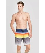 "Men's 10"" Striped Reversed Board Shorts - Goodfellow & Co™ Hyper Orange - $14.85"