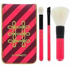 Mac Cosmetics 3 Pièce Cosmétique Brosse Set et Voyage Visage Mélangeur A... - $17.84