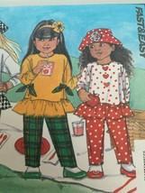Busybodies Butterick Sewing Pattern 6371 Easy Funwear Kids Pants Hat Shi... - $10.80