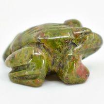 Unakite Jasper Gemstone Tiny Miniature Frog Figurine Hand Carved in China image 4