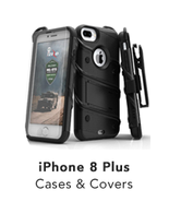 APPLE IPHONE 8 PLUS -BOLT HEAVY-DUTY RUGGED CASE,HOLSTER AND SCREEN COMB... - $49.99