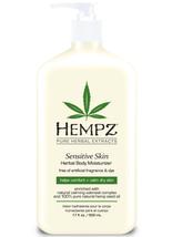 Hempz Sensitive Skin Herbal Body Moisturizer,  17oz
