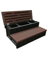 Confer Plastics Outdoor Spa Storage Steps Espresso - £157.59 GBP