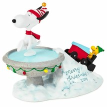 Hallmark Peanuts Snoopy 2019 Merry Christmas Figurine New with Box - $57.81