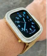 Bling Apple Watch Series 4/5/6 / Se Lunetta Custodia Baguette Zirconi, Oro 40mm - $82.46