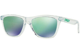 Oakley FROGSKINS  Collection Cristal Clear w/Jade Iridium OO9013-A3 - $111.02