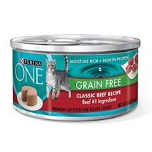 Purina ONE Grain Free Classic Beef Recipe Premium Pate Wet Cat Food - 24... - $26.77