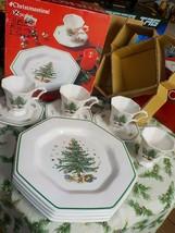 Nikko Christmastime 11 Pc Set Dinnerware Plates Cups & Saucers New Original Box - $49.99