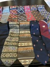 Tommy Hilfiger,Van Heusen and more lot of 18 Assorted Silk Neckties Multi-Color  image 6