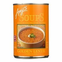 Amy's - Soup - Organic - Lentil - Golden - Case Of 12 - 14.4 Oz - $66.96