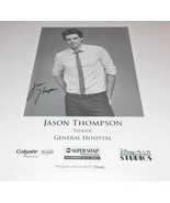 Jason Thompson Autograph Reprint Photo 9x6 General Hospital 2007 Young R... - $9.99