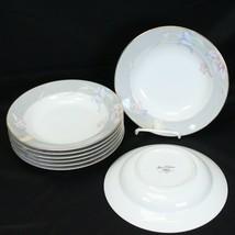 "Mikasa Charisma Gray Rim Soup Bowls 8.375"" Lot of 8 - $39.19"