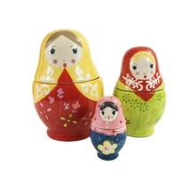 World Market Matroyshka Russian Nesting Doll Measuring Cups 6 Pieces, Ce... - $29.69